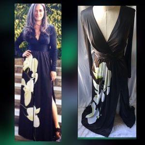 Altuzarra X target Black Orchid Maxi Dress sz 4